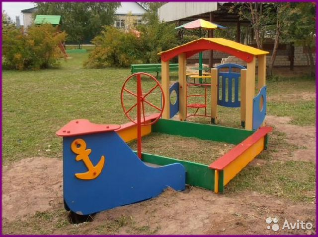 Как раскрасить кораблик на детской площадке