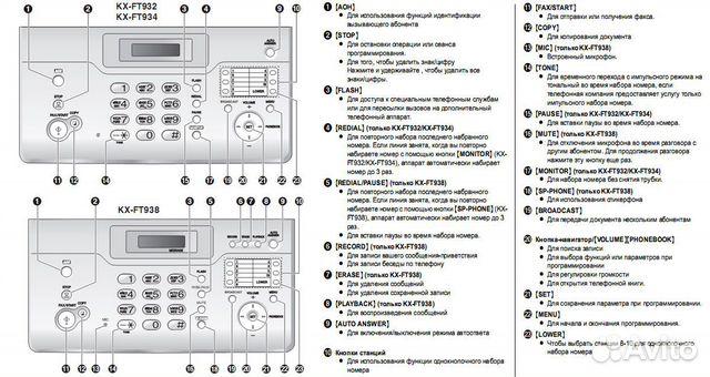KX-FT938RU // Факс Panasonic