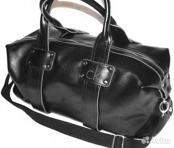 595b6677e8f9 Мужская кожаная сумка CKJeans black дорожная спорт | Festima.Ru ...