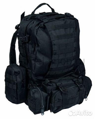 3855e56b4f63 Тактические рюкзаки с подсумками N1788 чёрный купить в Москве на ...