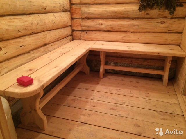Мебель для бани: лавки и стол купить в республике коми на av.
