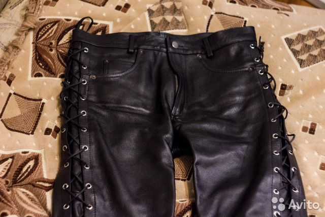 купить кожаные штаны на шнуровке на авито