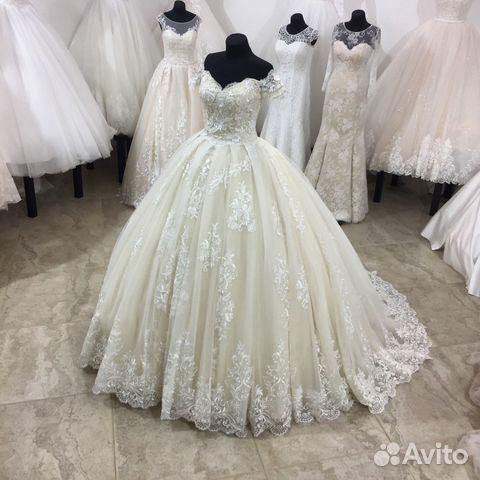 df33ce06079 Новое пышное свадебное платье со шлейфом