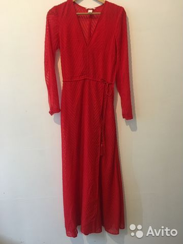 11e0fed383c4a46 Платье красное в пол H&m   Festima.Ru - Мониторинг объявлений