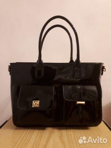 Новая женская кожа-лак сумка 89107369814 купить 2