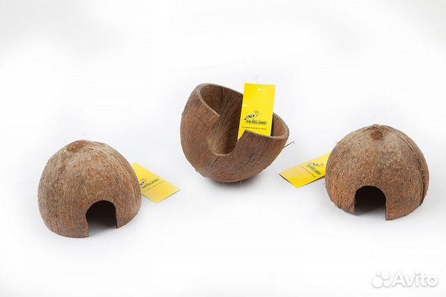 Домик для животных из скорлупы кокосового ореха