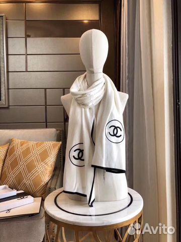 259b2144907a Палантин Chanel кашемир белый люкс купить в Москве на Avito ...
