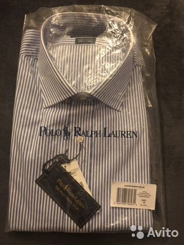 41baededf5c Рубашка новая мужская Polo Ralph Lauren размер 18 купить в Санкт ...