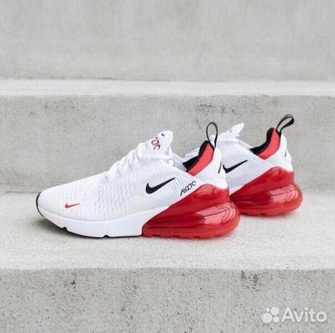 264c34ed Кроссовки Женские Nike Air Max 270 White/Red купить в Москве на ...