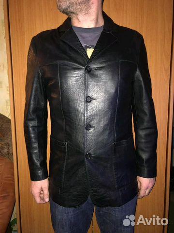 c694c703 Кожаная куртка-френч оригинал,Sosiety,Италия купить в Москве на ...