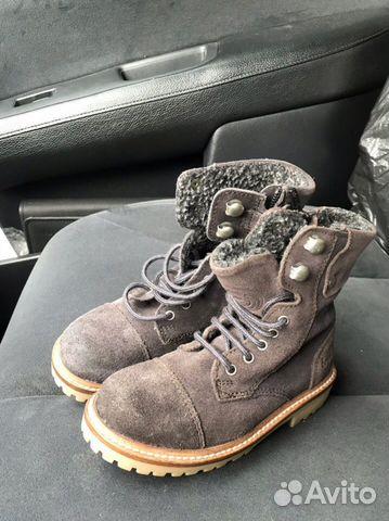Новые замшевые ботинки С мехом zara 89280678120 купить 4