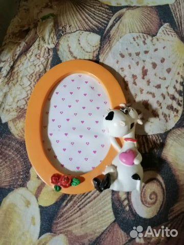 Фото рамка детская с коровой + стеклянная рамка 89045725678 купить 4