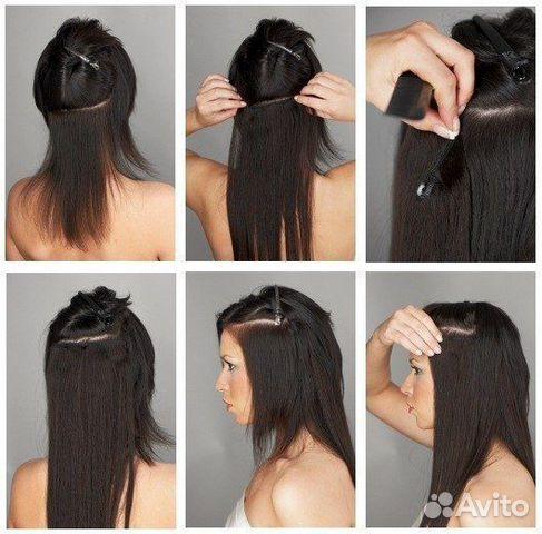 купить волосы искусственные на заколках недорого