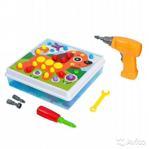 3D-мозаика с шуруповертом «Ферма», в чемоданчике  89657373009 купить 1