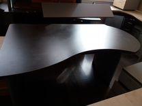 Стол офисный (коричневый)
