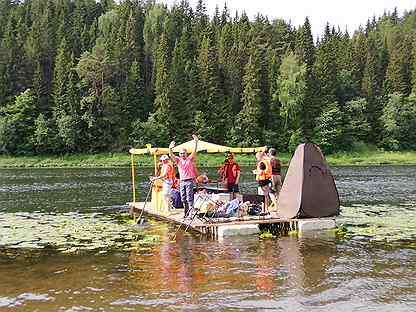 Сплав на плоту по реке Уфа