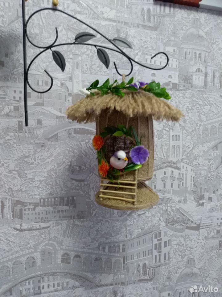 Домик из джута для украшения интерьера  89042052967 купить 6