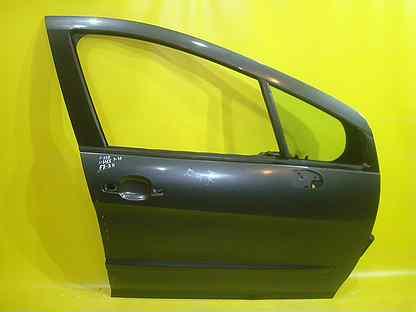 Дверь Серая Правая Передняя Peugeot Пежо 308