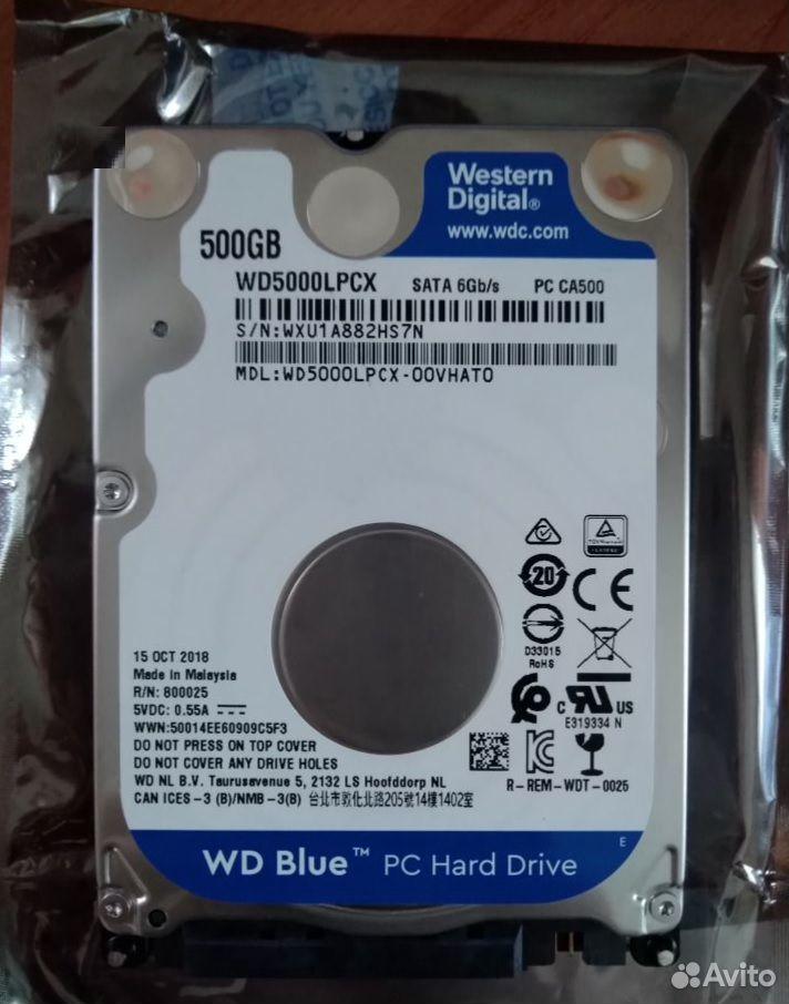 Жесткий диск для ноутбука WD 500гб