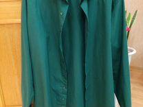 Мужская рубашка цвет изумруд