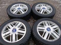Оригинал литье Ford 5x108 + зима 205/55/16 1 сезон