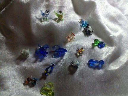Микро фигурки Цветное стекло Чехия
